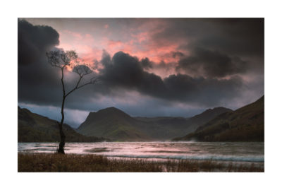 Storm Brian rushing through the Buttermere Valley at sunrise. The Lake District, UK. Available as a print on my store